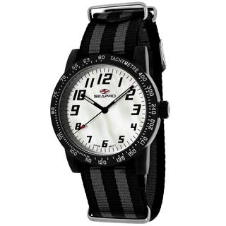 Seapro Women's SP5210NBK Bold Round Two-tone Nylon Strap Watch