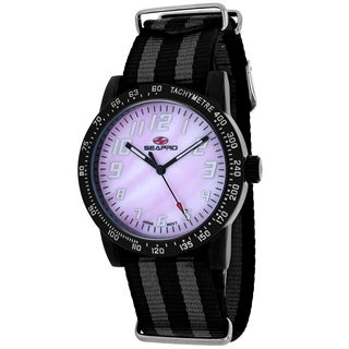 Seapro Women's SP5211NBK Bold Round Two-tone Nylon Strap Watch