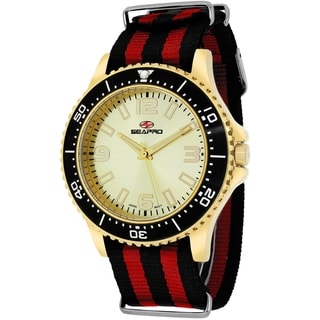 Seapro Men's SP5315NR Tideway Round Two-tone Nylon Strap Watch