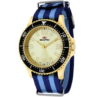 Seapro Men's SP5315NBL Tideway Round Two-tone Nylon Strap Watch