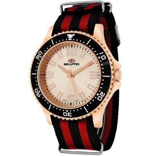 Seapro Men's SP5314NR Tideway Round Two-tone Nylon Strap Watch