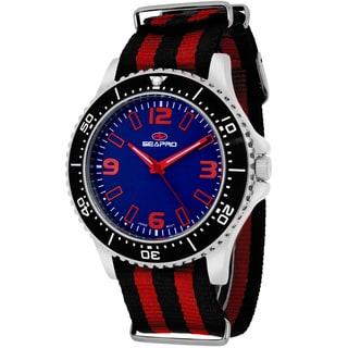 Seapro Men's SP5313NR Tideway Round Two-tone Nylon Strap Watch