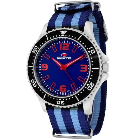 Seapro Men's Tideway Round Two-tone Nylon Strap Watch