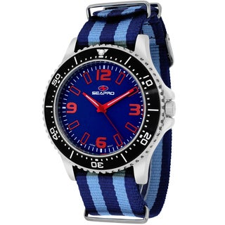 Seapro Men's SP5313NBL Tideway Round Two-tone Nylon Strap Watch