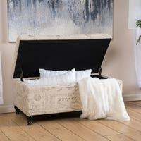 Luke Fabric Storage Ottoman Bench by Christopher Knight Home