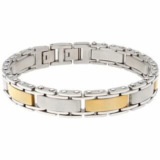 Stainless Steel Men's Two Tone Bracelet