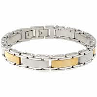 Stainless Steel Men's Two Tone Bracelet