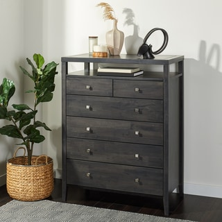 Aristo Dark Grey/Black 6 Drawer Chest