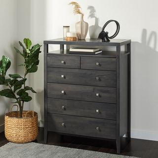 aristo dark greyblack 6 drawer chest