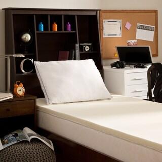 Comfort Memories 1.5-inch Dorm Memory Foam Topper and Pillow Set