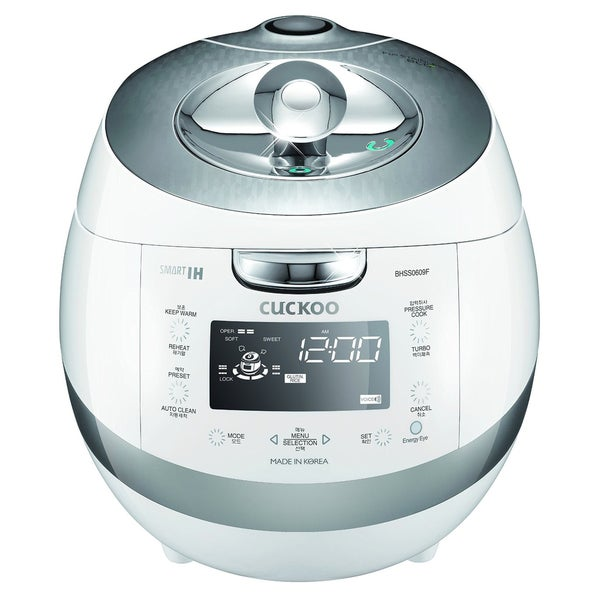 Cuckoo CRP-BHSS0609FWhite 6-Cup Pressure Rice Cooker, 110V