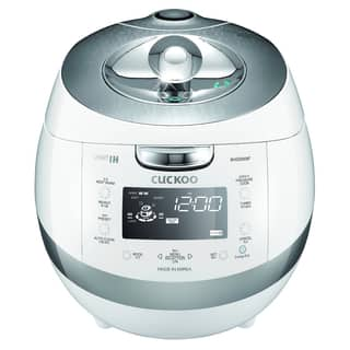 Cuckoo CRP-BHSS0609FWhite 6-Cup Pressure Rice Cooker, 110V|https://ak1.ostkcdn.com/images/products/10343359/P17452680.jpg?impolicy=medium