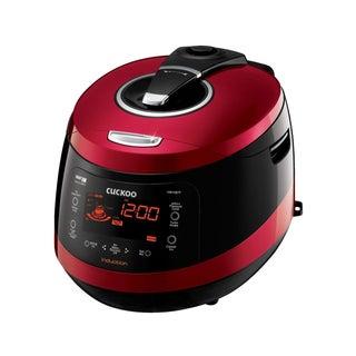 Cuckoo CRP-HW1087F 10-Cup Pressure Rice Cooker, 110V, Vivid Wine