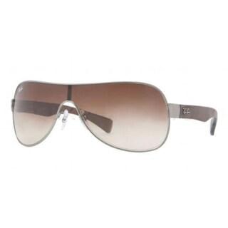Ray-Ban RB3471 Shield Sunglasses - 029/13 Matte Gunmetal (Brown Gradient Lens) - 132mm