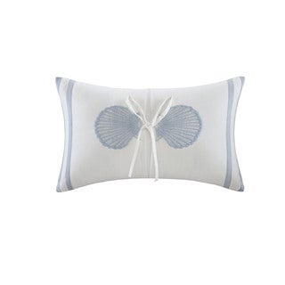 Harbor House Crystal Beach Embroidered Shell Oblong Pillow