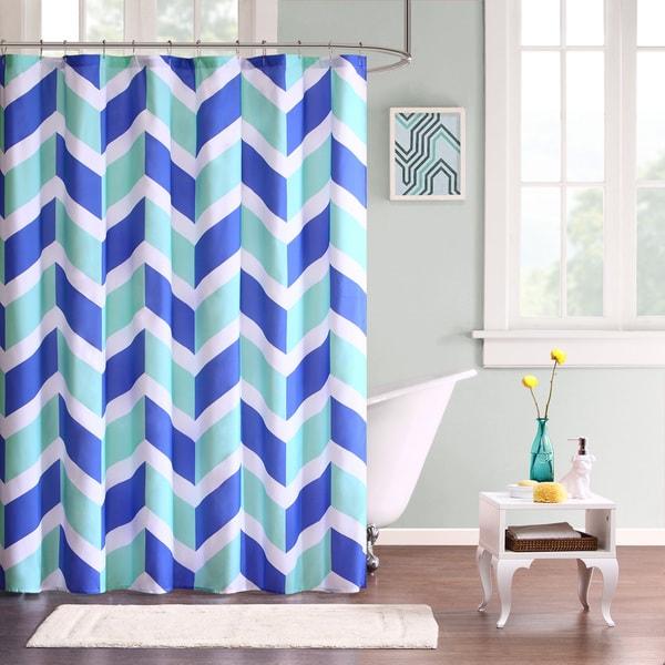 Mi Zone Jessie Microfiber Shower Curtain--3 Color Options