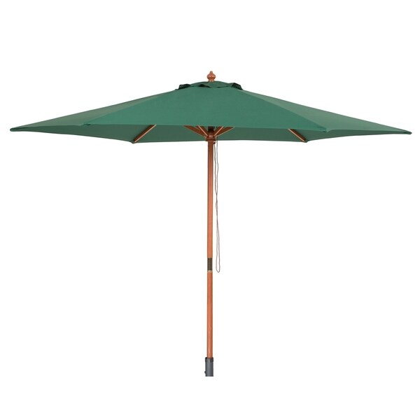 Beliani Toscana Wooden Green Umbrella Free Shipping