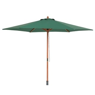 Beliani Wooden Umbrella without Flaps - Toscana green