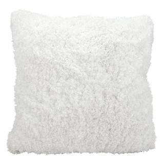 Mina Victory Shag White Throw Pillow (22-inch x 22-inch) by Nourison