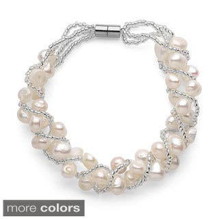 Freshwater Pearl Magnetic Clasp Woven Bracelet (5-7mm)|https://ak1.ostkcdn.com/images/products/10343492/P17452755.jpg?impolicy=medium