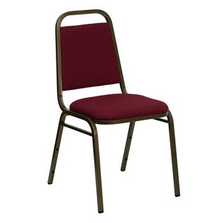 Thistle Burgundy Upholstered Stack Dining Chairs