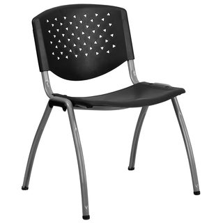 Vanda Black Contoured Modern Design Stack Chairs