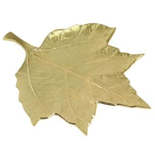 Pampa Bay Aluminum Leaves Embossed Leaf Dish