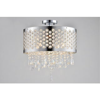 Artiva USA Catalyn Chrome 4-light Crystal Flush Mount Chandelier