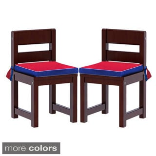 Maxtrix Kids Mates 21 Two Small Chairs with Blue/ Red Seat Pads
