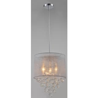 Artiva USA Charlotte Silver Textured Silk Shade 3-Light Chrome Crystal Chandelier with Bubbles Glass Ball https://ak1.ostkcdn.com/images/products/10343621/P17452929.jpg?impolicy=medium