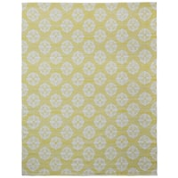 Yellow Medallion Cotton Jacquard Rug - 10'x14'