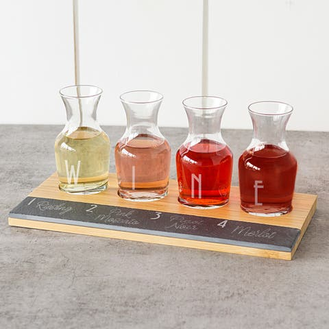 The Gray Barn Mistwood Bamboo and Slate Wine Tasting Flight