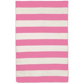 Wide Stripe Outdoor Rug (7'6 x 9'6)