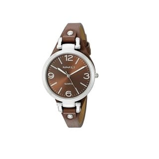 Nemesis Brown/Silver 'Classy' Womens Watch with Brown Leather Band|https://ak1.ostkcdn.com/images/products/10343694/P17452962.jpg?impolicy=medium