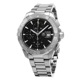 Link to Tag Heuer Men's CAY1110.BA0925 'Aquaracer' Chronograph Stainless Steel Watch Similar Items in Men's Watches