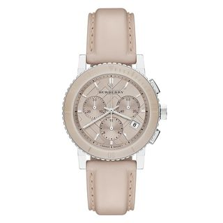 Burberry Women's BU9702 'The City' Chronograph Pink Leather Watch