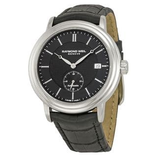Raymond Weil Men's 2838-STC-20001 'Maestro' Automatic Black Leather Watch|https://ak1.ostkcdn.com/images/products/10343756/P17453003.jpg?impolicy=medium
