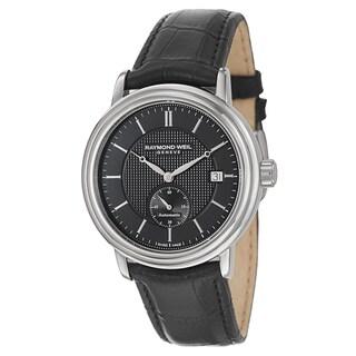 Raymond Weil Men's 2838-STC-20001 'Maestro' Automatic Black Leather Watch