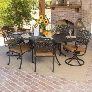 Evangeline 6-person Cast Aluminum Patio Dining Set