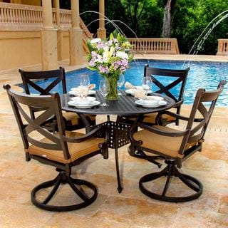 Avondale 4-person Cast Aluminum Patio Dining Set