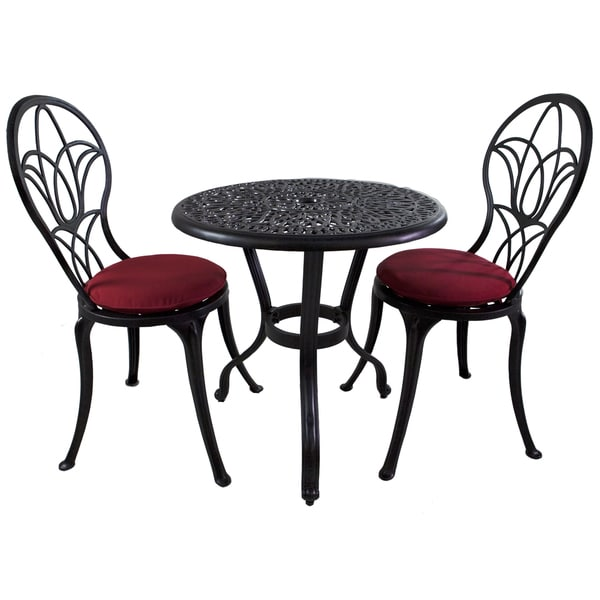 royal bistro 3piece patio furniture set with sunbrella cushions - Sunbrella Furniture