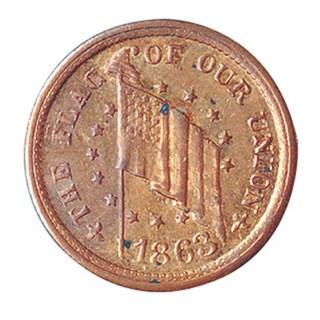 American Coin Treasures Genuine Historical Civil War Token