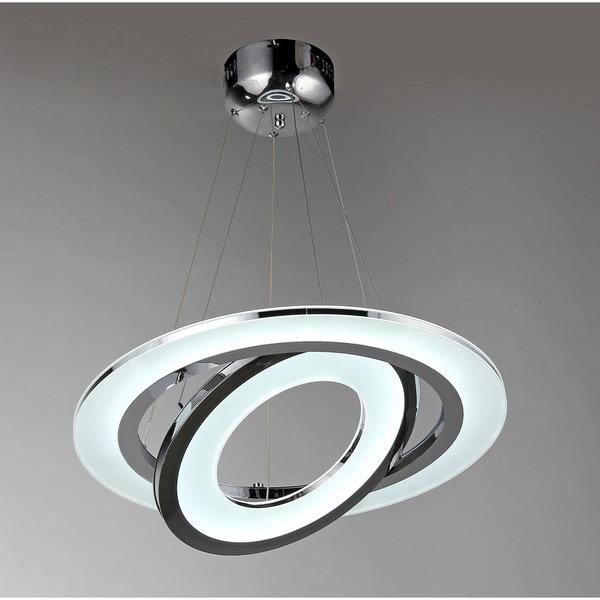 Madelyn 1-light Chrome 22-inch LED Flush Mount