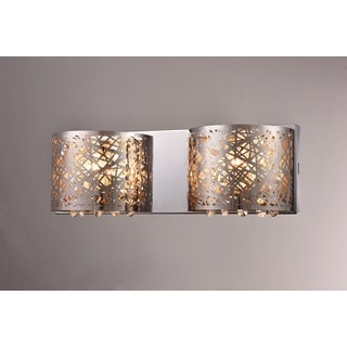 Aubrey 2-light Chrome 16-inch Crystal Wall Lamp