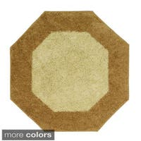 Frisse Two-tone Octagon Shag Accent Rug (4'x4') - 4' x 4'