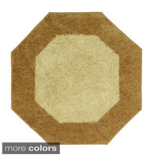 Frisse Two-tone Octagon Shag Accent Rug (4' x 4')
