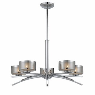 Lumenno Bodorlo Collection 5-light Chrome Chandelier