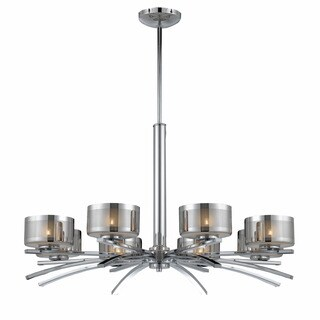 Lumenno Bodorlo Collection 8-light Chrome Chandelier