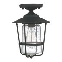 Capital Lighting Creekside Collection 1-light Black Outdoor Ceiling Flush Mount