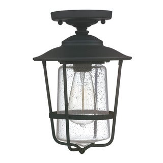 Capital Lighting Creekside Collection 1-light Black Outdoor Ceiling Flush Mount